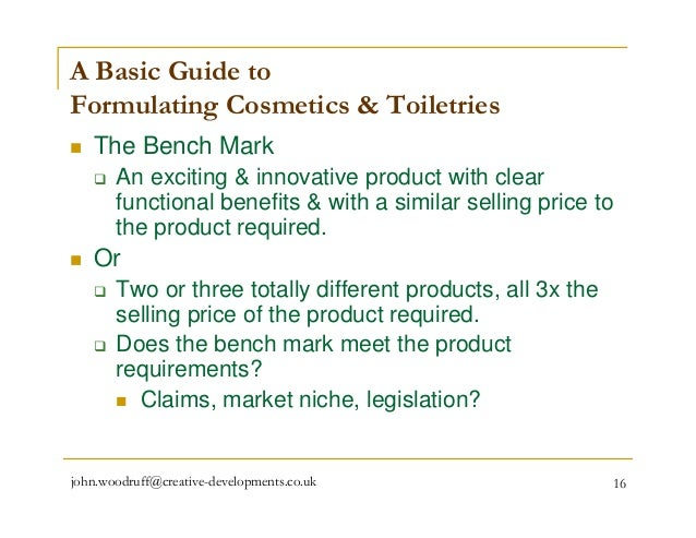 formulating packaging and marketing of natural cosmetic products pdf