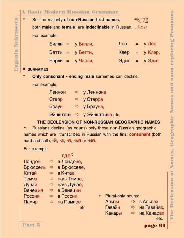 Origin With Russian Grammar 19