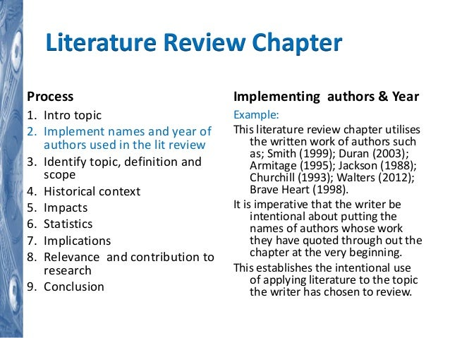 Phd thesis structure literature review