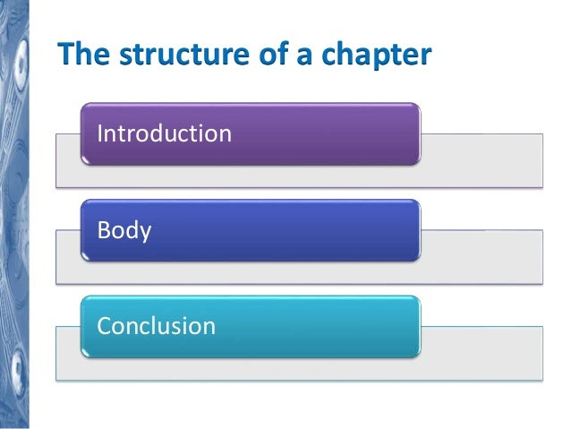 Masters dissertation structure