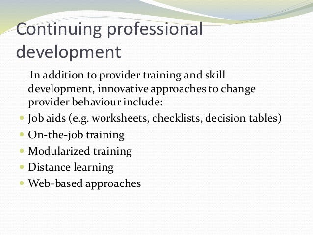 Studies in India show that training private medical practitioners can address some of these quality barriers by improving ...