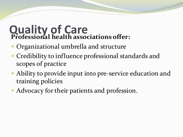 To Improve QualityMost professional associations in developing countries need capacity building and organizational strengt...