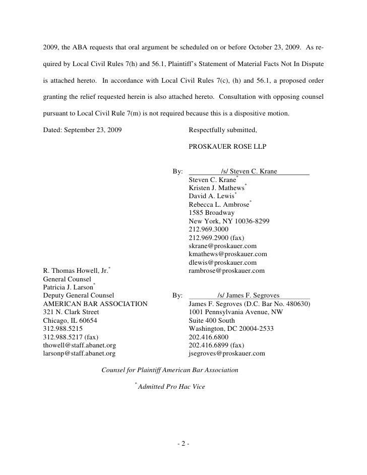 Request For Oral Argument 115