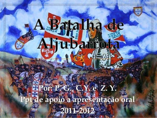 Por: P. G., C.Y. e Z. Y.Ppt de apoio a apresentação oral2011-2012