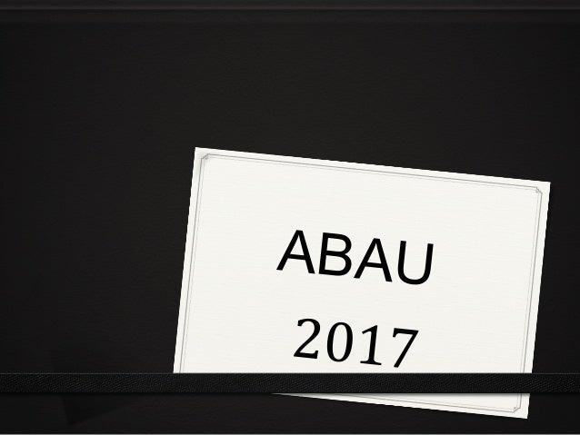 ABAU 2017