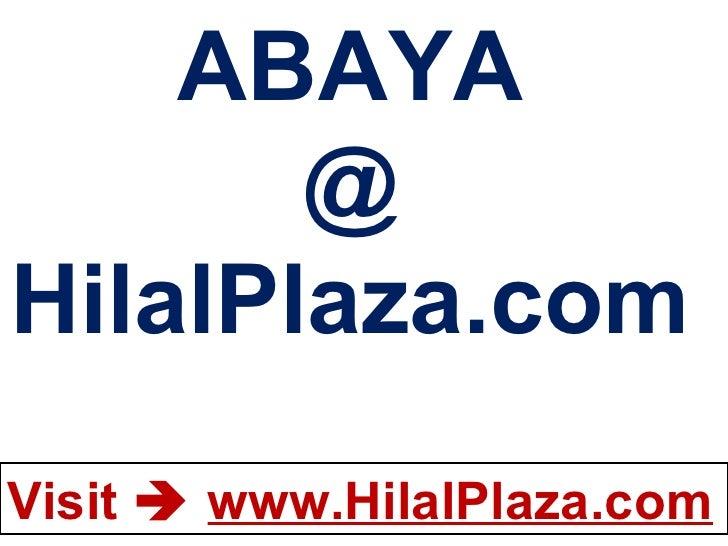 ABAYA @ HilalPlaza.com
