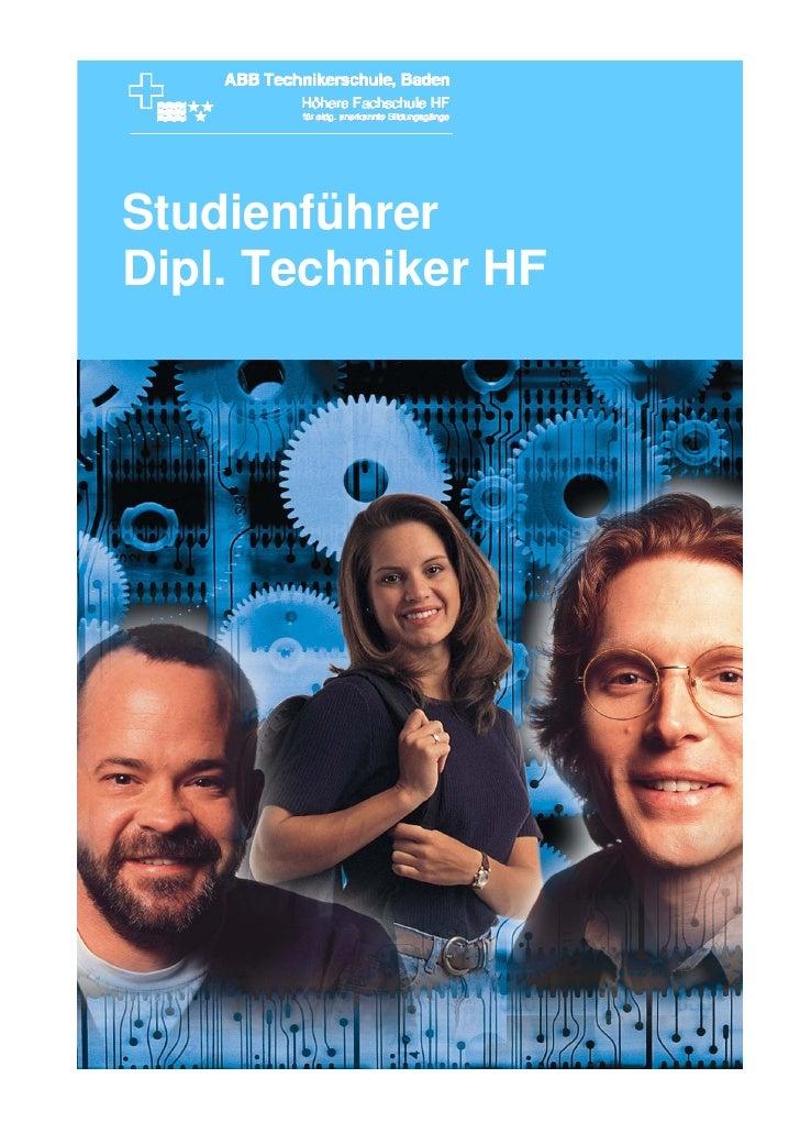 Studienführer Dipl. Techniker HF