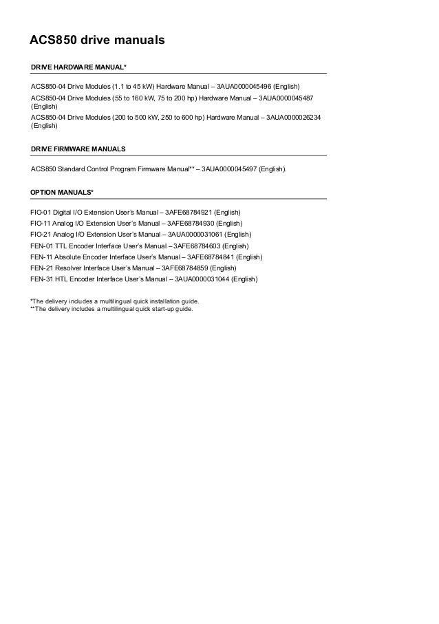 Abb acs 600 firmware manual Abb Acs Wiring Diagram on