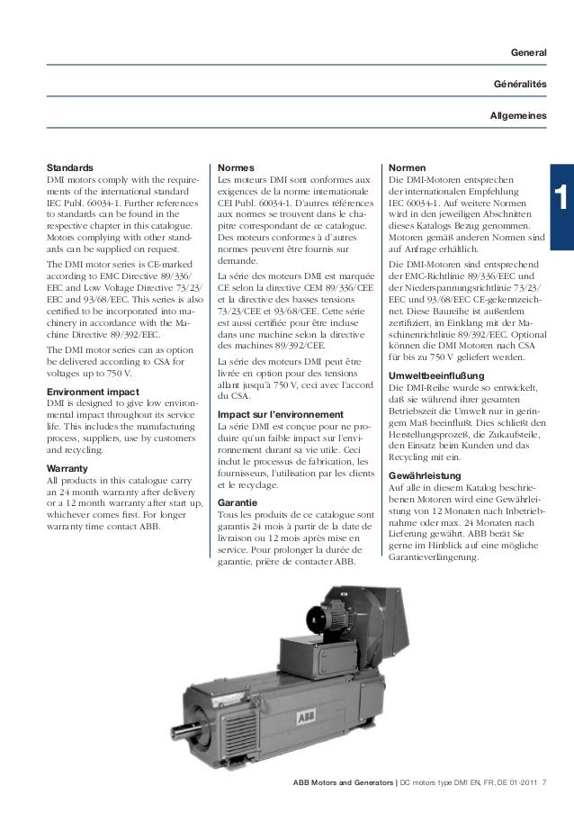 Abb dc motors dmi catalog for Abb m3bp motor catalogue