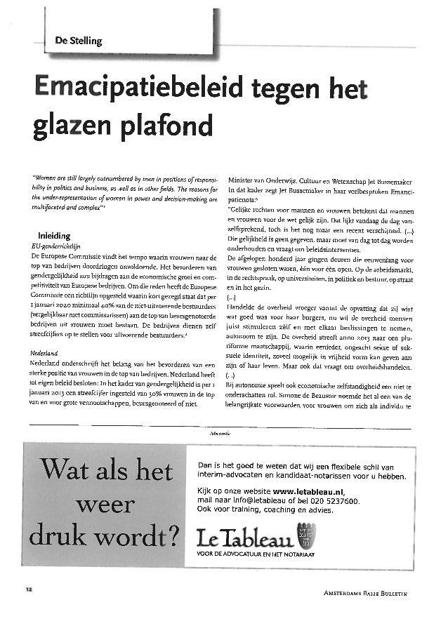 ABB: Emancipatiebeleid tegen het glazen plafond