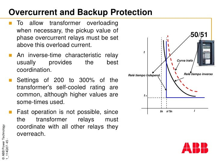 ABB TRANSFORMERSPROTECTIONCOURSE - Current relay characteristics