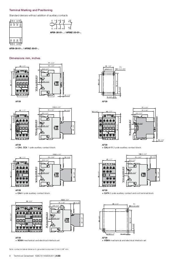 abb contactors 3 pole contactors abb af09 af09z (ac dc) contactors