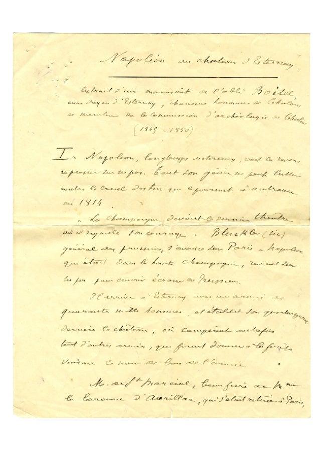 Napoléon à Esternay, février 1814