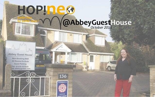 @AbbeyGuestHouse   October  2015