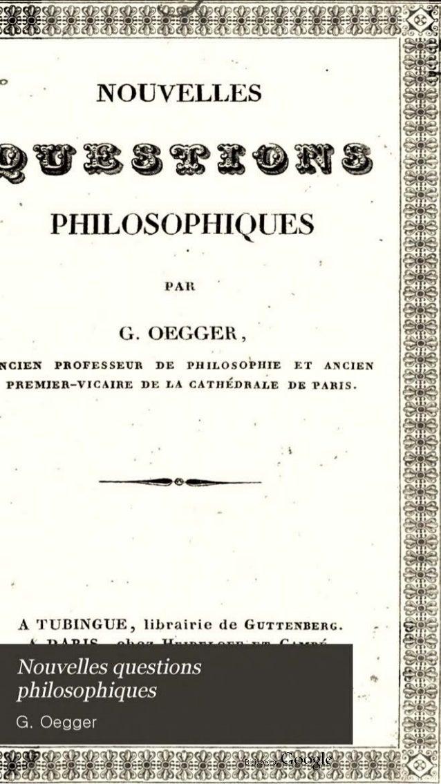 Nouvellesquestphilosophiques G.Oegger