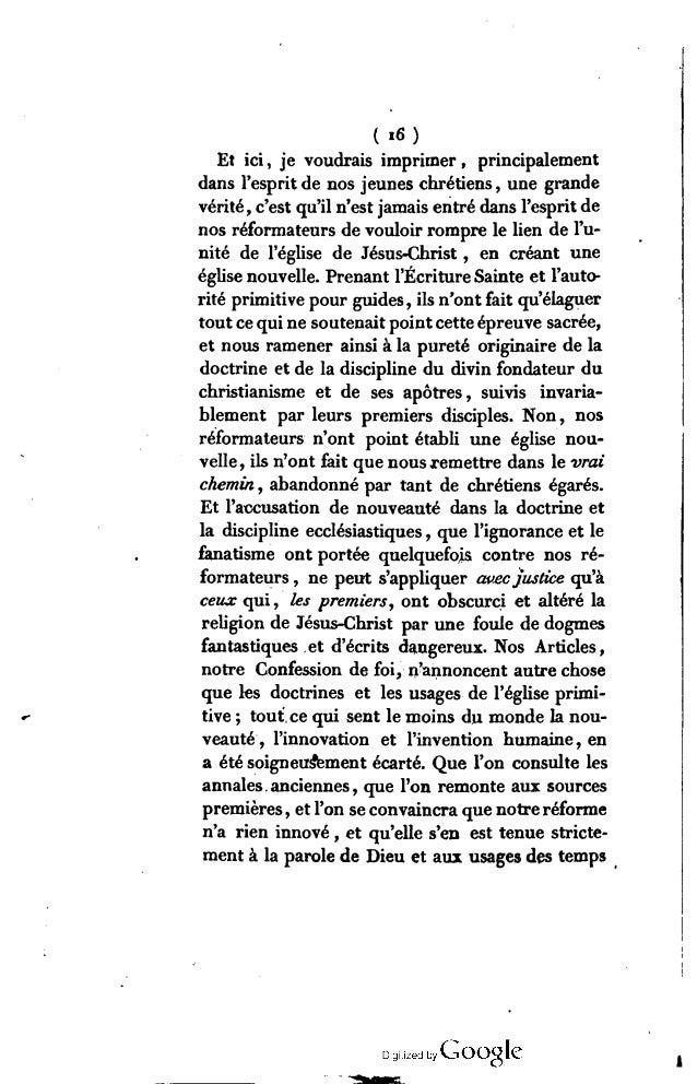 («7) apostoliques , c'est-à-dire des plus beaux temps de l'église de Jésus-Christ. C'est le texte original de l'ancien aus...