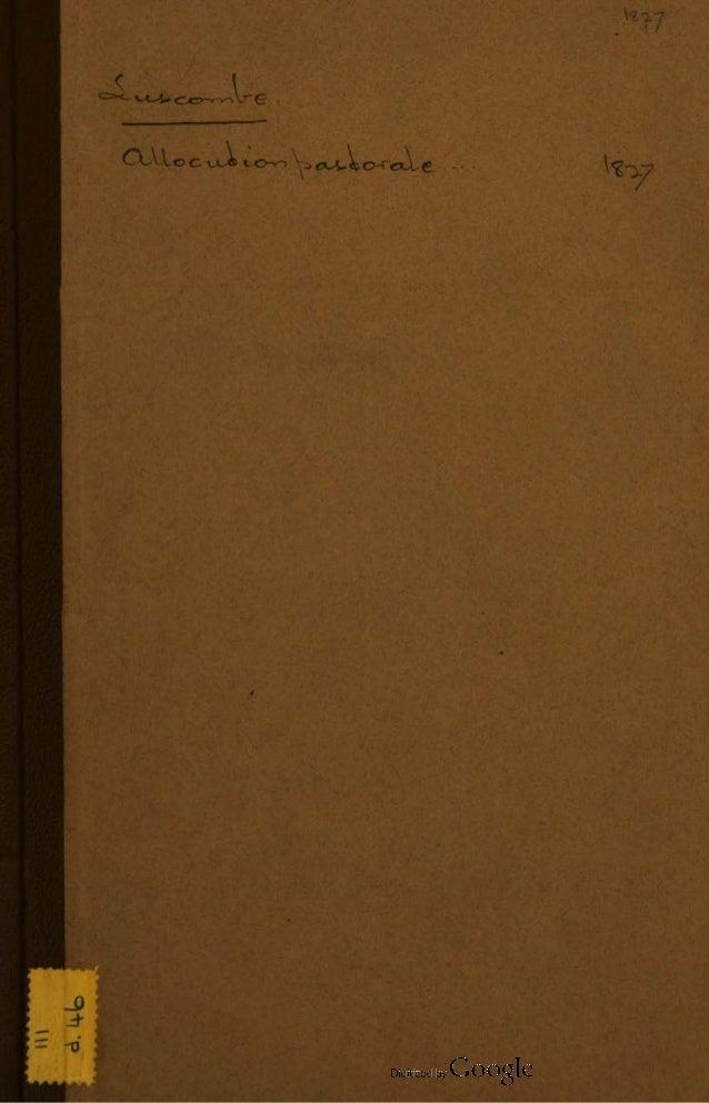 Abbé Guillaume OEGGER, Préface, et traduction de l'Allocution pastorale adressée aux anglais qui sont en France, M.Luscomb...