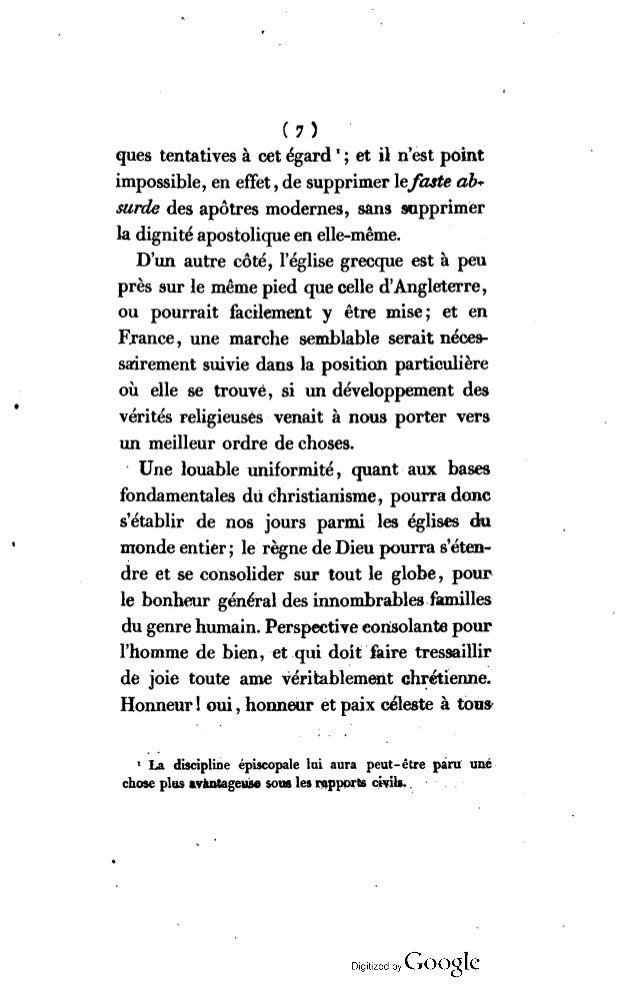 (7) ques t entativesà cet égard ' ;et il n'est point impossible, en effet, de supprimer lefaste ab surde des apôtres moder...