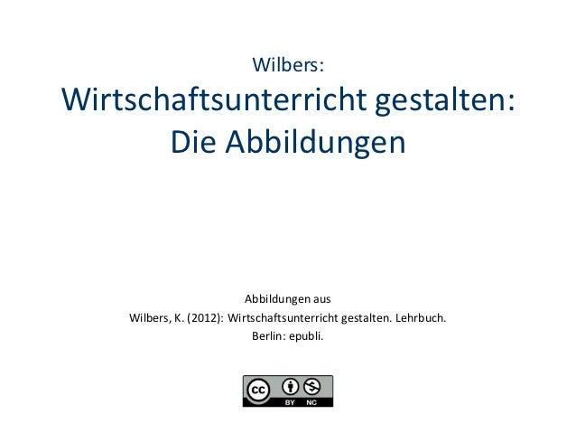 Wilbers:Wirtschaftsunterricht gestalten:       Die Abbildungen                           Abbildungen aus    Wilbers, K. (2...