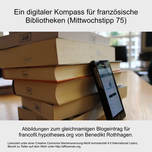 Ein digitaler Kompass für französische Bibliotheken (Mittwochstipp 75) Lizenziert unter einer Creative Commons Namensnennu...