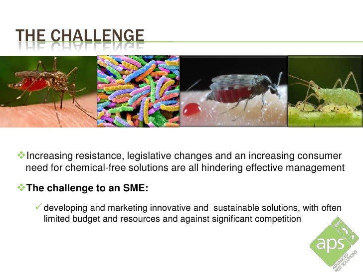 THE CHALLENGEIncreasing resistance, legislative changes and an increasing consumer need for chemical-free solutions are a...