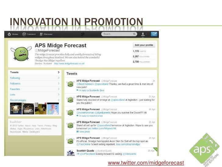 INNOVATION IN PROMOTION                     www.midgeforecast.co.uk