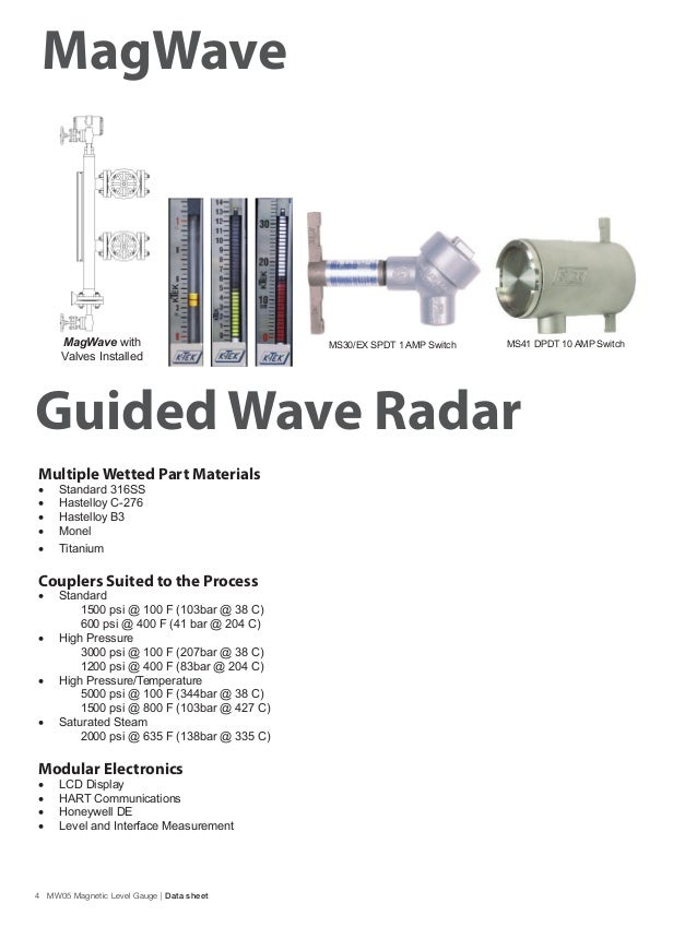guided wave radar level and interface transmitter