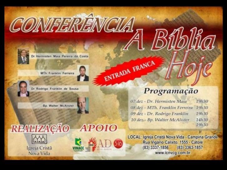 Conferência A bíblia hoje