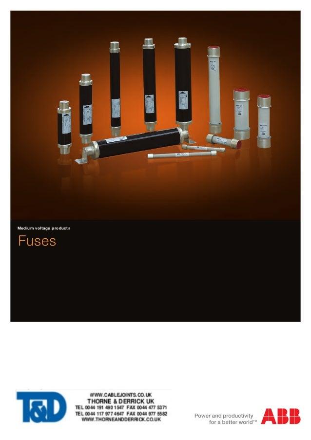 Medium voltage products  Fuses