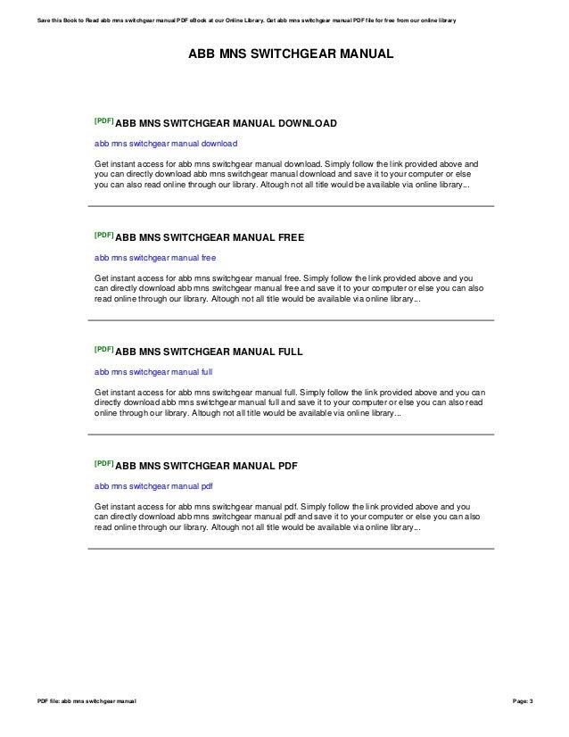 Abb Switchgear Manual 11th Edition Pdf