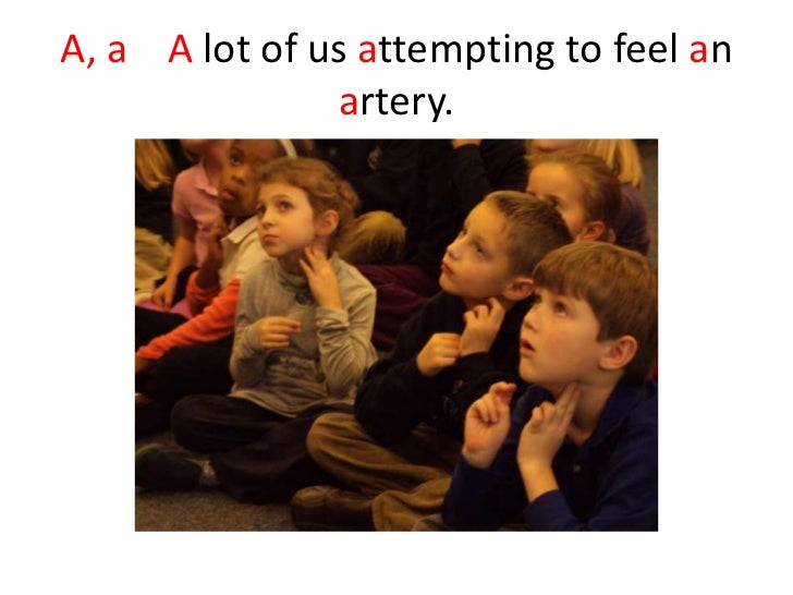 A, a A lot of us attempting to feel an               artery.