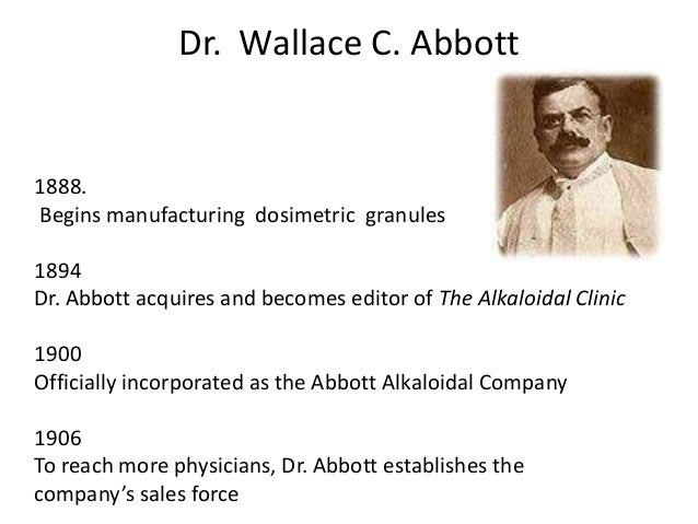 Dr  Wallace Abbott Shouts | Cafepharma Message Boards