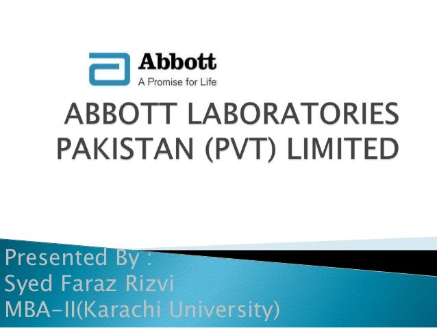 Abbott Laboratories Pakistan Pvt Limited