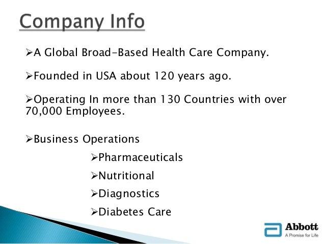 Business OperationsPharmaceuticalsNutritionalDiagnosticsDiabetes Care 4 Abbott