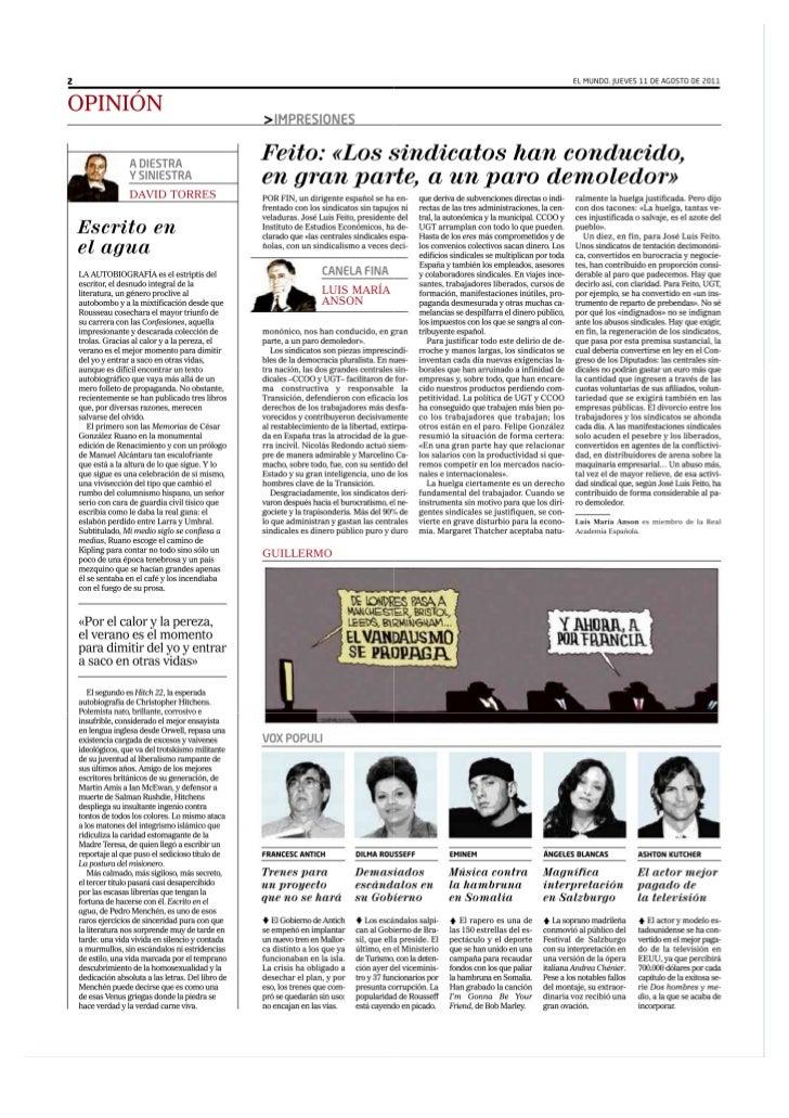 """Angeles Blancas en Bregenz """"El Mundo"""" (Destacado)"""