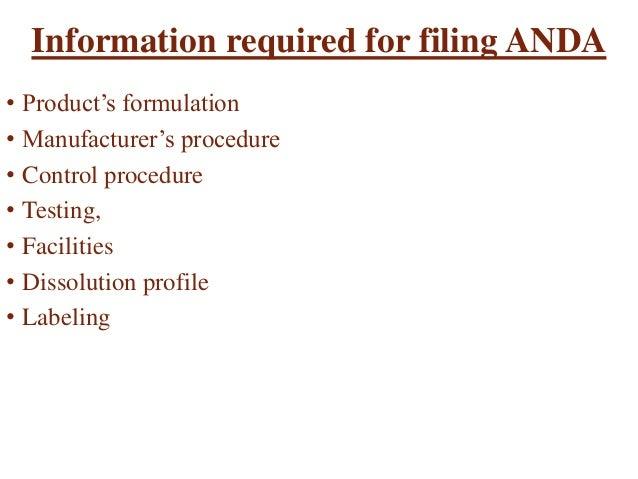 Abbreviated New Drug Application [ANDA]