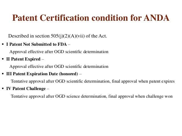 anda abbreviated drug application iv paragraph
