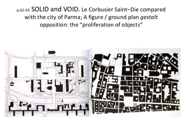 Abbreviated rowe and koetter presentation for Solid void theory architecture