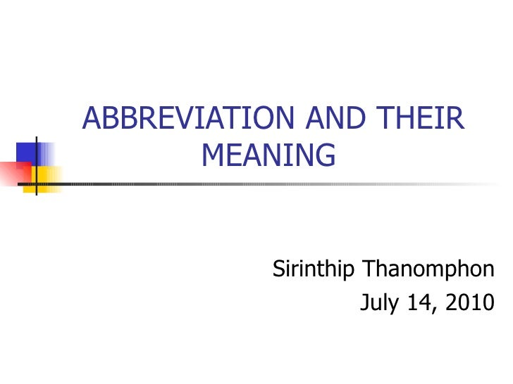 meaning abbreviation