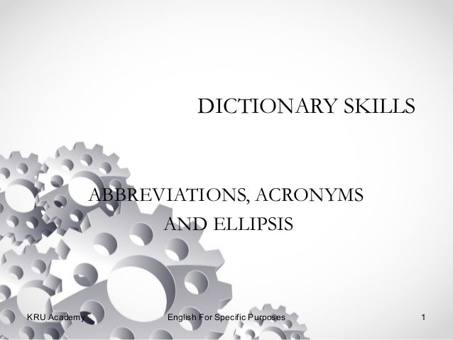 Dictionary of abbreviations in english
