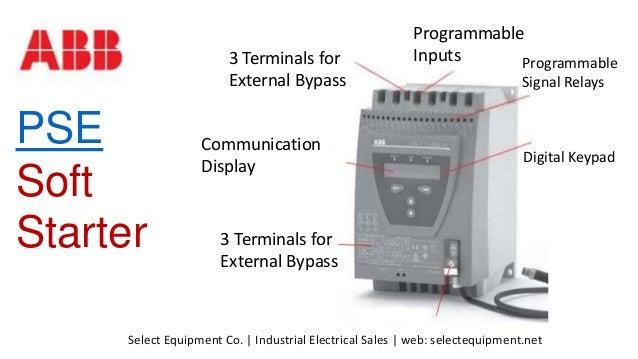 ABB Softstarters PSE, Soft Starters for ABB PSE Motor Control on
