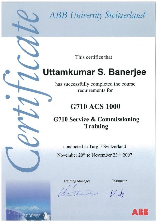 Abb switzerland certificates
