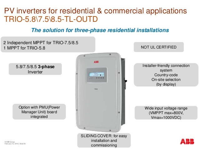 ABB Training Colombia Inverters - Focus on residential and ... on