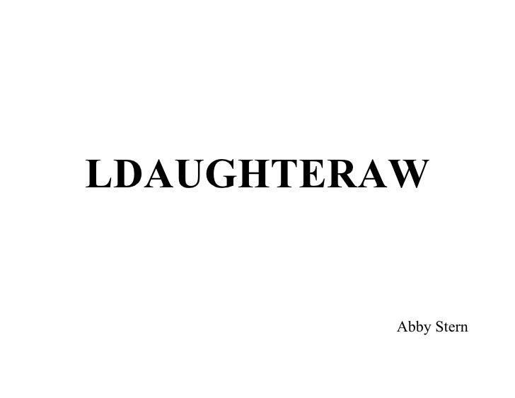 LDAUGHTERAW            Abby Stern