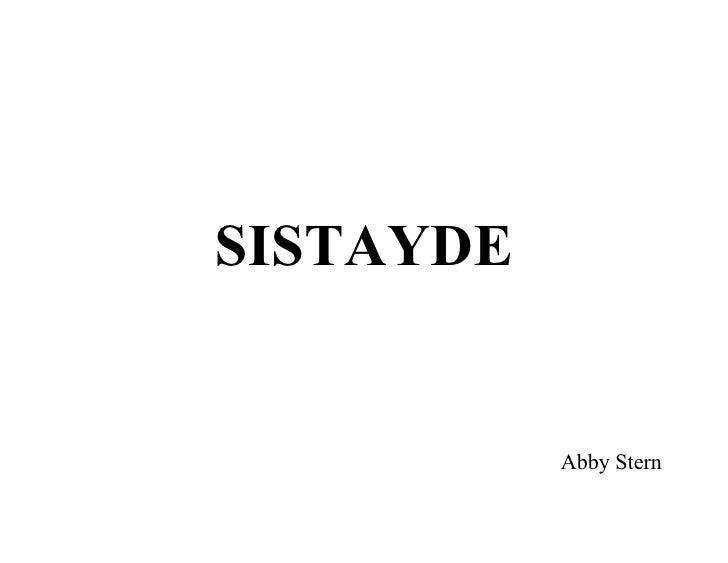 SISTAYDE              Abby Stern