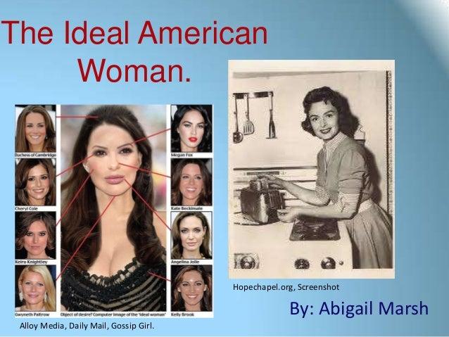 The Ideal American     Woman.                                         Hopechapel.org, Screenshot                          ...