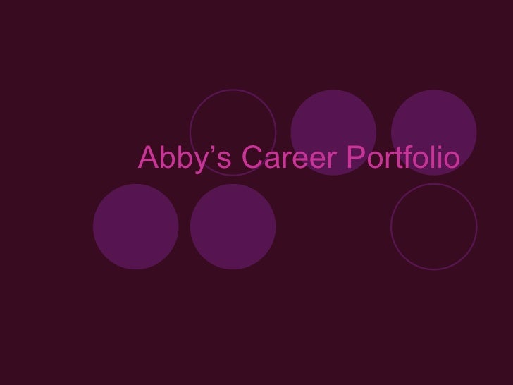 Abby's Career Portfolio