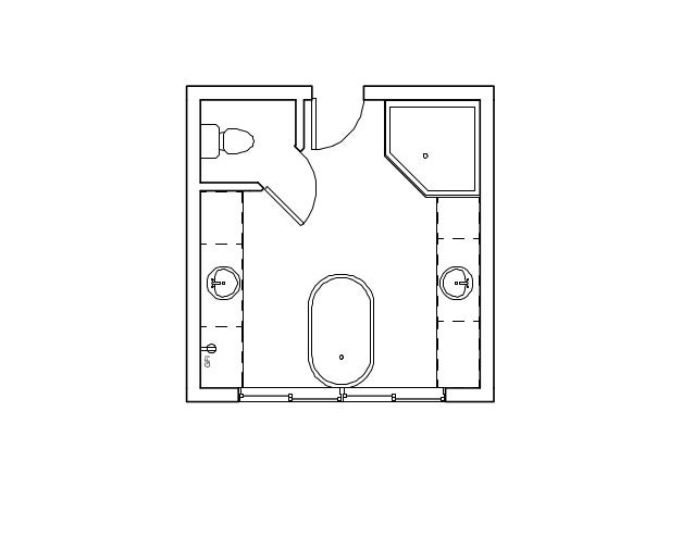 Bathroom Floor Plan Isometric Drawing