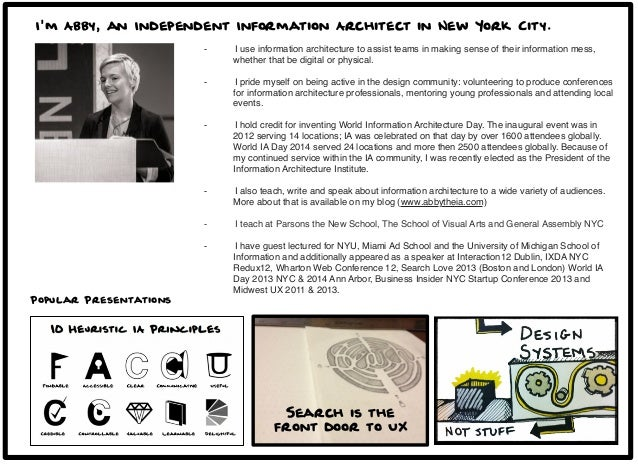 ... 2. Iu0027m Abby, An Independent Information Architect ...