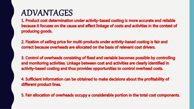benefits of abc costing system